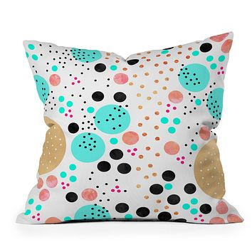 Elisabeth Fredriksson Colorful Champagne Outdoor Throw Pillow