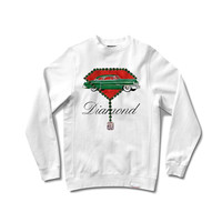 Diamond Supply Caddy Crewneck Sweatshirt White