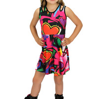 Dirtee Hollywood Graffiti Heart Dress | Mod Angel