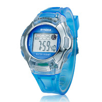 Hot Sale Cheap Children Kids Sport Watch Fashion Candy Color Silicone Rubber LED Digital Watches Alarm Date Wristwatch Clock