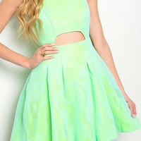 Sea Foam Green Sleeveless Baby Doll Dress