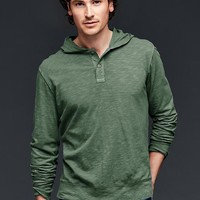 Lived In Hooded Henley