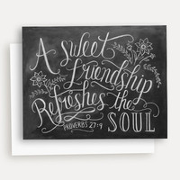 A Sweet Friendship Refreshes The Soul - A2 Note Card