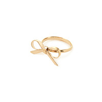 FOREVER 21 Ribbon Bow Ring Gold