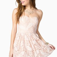 Paisley Lace Poof Dress