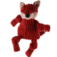 Hugglehounds Plush Corduroy Durable Knotties Fox Dog Toy
