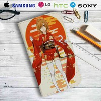 Meiko Vocaloid Leather Wallet iPhone 4/4S 5S/C 6/6S Plus 7| Samsung Galaxy S4 S5 S6 S7 NOTE 3 4 5| LG G2 G3 G4| MOTOROLA MOTO X X2 NEXUS 6| SONY Z3 Z4 MINI| HTC ONE X M7 M8 M9 CASE