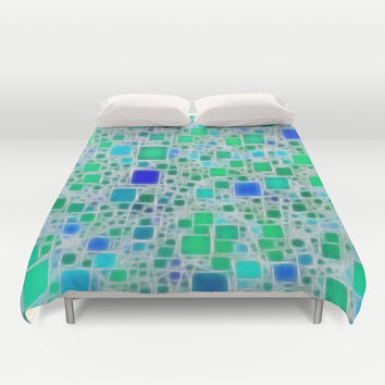 Ceramics Ocean Duvet Cover by Alice Gosling