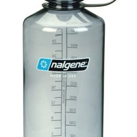 NALGENE Tritan 1-Quart Narrow Mouth BPA-Free Water Bottle,Gray