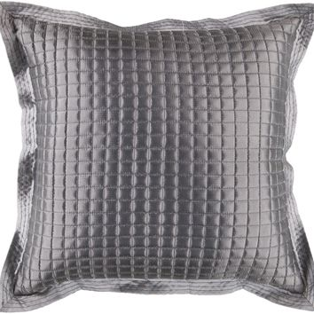 Quilted Throw Pillow Gray