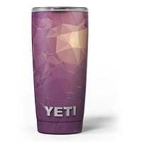 Purple Geometric V18 - Skin Decal Vinyl Wrap Kit compatible with the Yeti Rambler Cooler Tumbler Cups