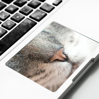 Touchpad Sticker with Cat Nose for Apple Macbook Pro, Pro Retina, Macbook Air Trackpad Sticker Decal Cat Decal Kitten Kitty