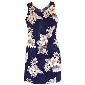 blueberry hawaiian tank dress