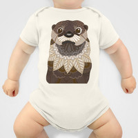 Ornate Otter Baby Clothes by ArtLovePassion