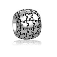 Autism Awareness Puzzle Bead in Sterling Silver