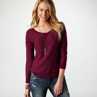 AE Pointelle Detail Sweater   American Eagle Outfitters