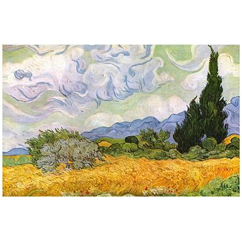 Vincent Van Gogh Wheat Field with Cypresses Poster 11x17