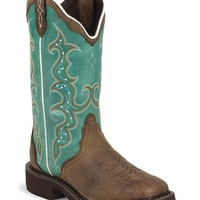 Justin Gypsy Turquoise Cowgirl Boots - Square Toe - Sheplers