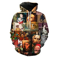 Famous Paintings Collage Hoodie