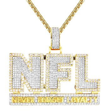 Never Forget Loyalty For Life Two Tone Sterling Silver Pendant