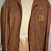 """Unisex Vintage Distressed Suede Jacket from """"That 70's Show"""" -  Retro TV"""