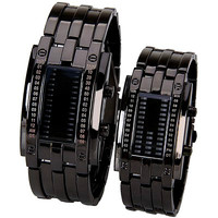 Him & Her Black Matching Exotic Watch