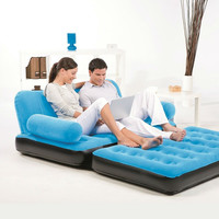 Blue Inflatable Indoor/Outdoor Muti Purpose Sofa Couch Bed Lounge w/ Air Pump