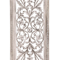 White Polished Attractive Wood Wall Panel