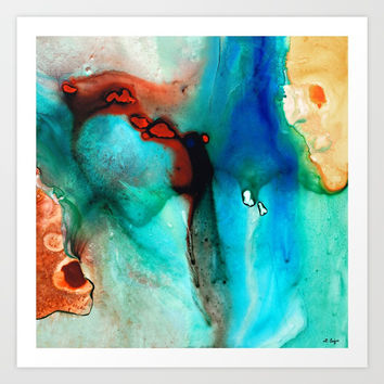 Modern Abstract Art - Color Rhapsody - Sharon Cummings Art Print by Sharon Cummings