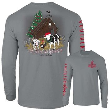 Southernology Heaven and Nature Sing Holiday Comfort Colors Long Sleeve T-Shirt
