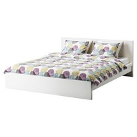 Ikea Malm White Queen Size Bed Frame Height Adjustable