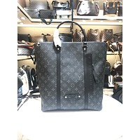 louis vuitton lv new men classic leather large capacity luggage travel bags tote handbag crossbody satchel 49
