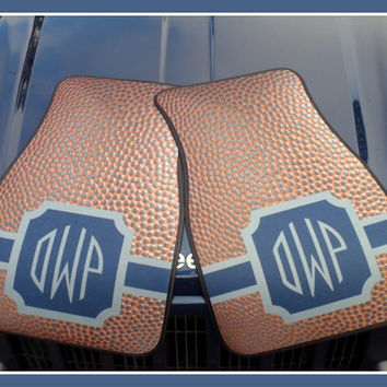 Car Mats Football Pigskin - Like YOUR Team Colors Gift Ideas Car Accessories Monogrammed Personalized