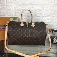 LV Louis Vuitton MONOGRAM CANVAS SPEEDY 40 HANDBAG INCLINED SHOULDER BAG