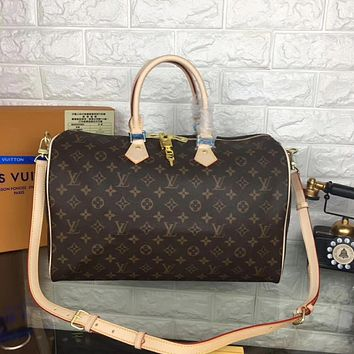 LV Louis Vuitton MEN'S MONOGRAM CANVAS SPEEDY 40 HANDBAG SHOULDER BAG