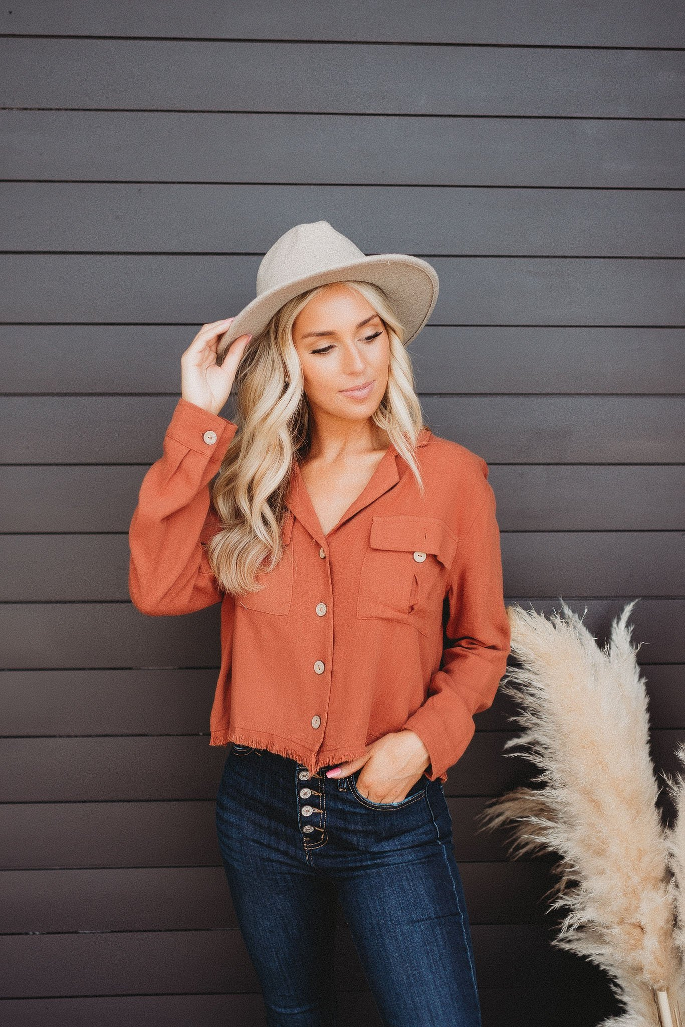 Image of Country Sunset Button Down (Rust)