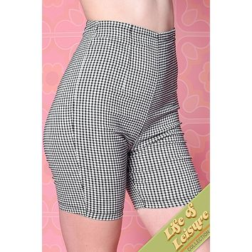 Tennis Time Fitted Gingham Bermuda Shorts