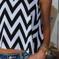 Chevron Crop Top