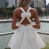 BLESSED ANGEL DRESS , DRESSES, TOPS, BOTTOMS, JACKETS & JUMPERS, ACCESSORIES, 50% OFF SALE, PRE ORDER, NEW ARRIVALS, PLAYSUIT, COLOUR, GIFT VOUCHER,,White,CUT OUT,BACKLESS,SLEEVELESS,MINI Australia, Queensland, Brisbane