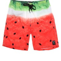 Neff Melon Hot Tub Boardshorts - Mens Board Shorts - Red