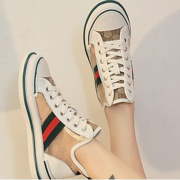 New fashion trend net yarn breathable high-top canvas shoes