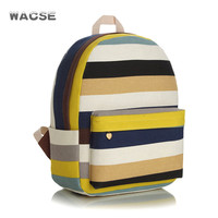 Stripes Thicken Striped Travel Canvas Backpack = 4887615940