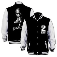 Tupac Death Row Varsity College Jacket