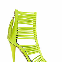 Strap-ping Babe Faux Leather Heels