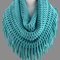 All About Style Infinity Fringe Scarf