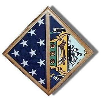 Flag - Wall Mounted box - Fit Burial flag Case, 2 Flag Wall Mounted Case