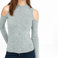Ribbed Express One Eleven Cold Shoulder Tee from EXPRESS