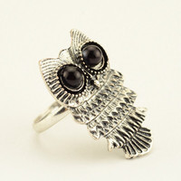 Owl ring, cute owl ring, retro style ring, wedding jewelry, gift for girlfriend, Christmas gift.