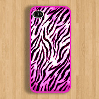 Luxury Pink Zebra Design and Pink Case : Iphone 4/4s case Iphone 5 case
