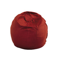Fun Furnishings Micro Suede Small Bean Bag by Fun Furnishing in Red